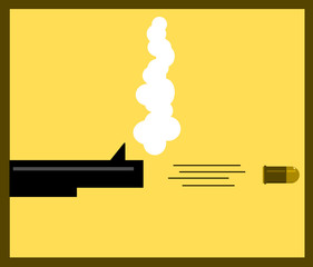 illustration of bullet leaving gun