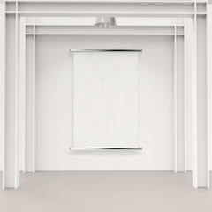blank paper card 3d on composition wall as concept