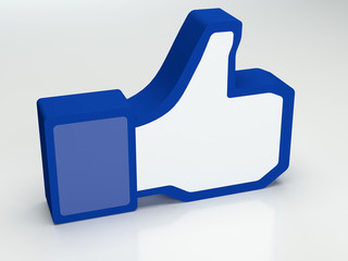 Social media facebook thumbs-up