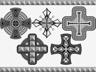 Set celtic crosses