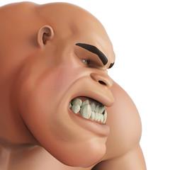 caveman cartoon facebook close up