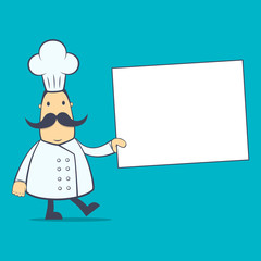 chef in various poses for use in advertising, presentations,