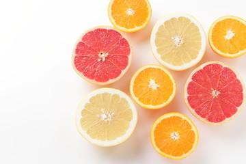 Obraz orange and a grapefruit - fototapety do salonu