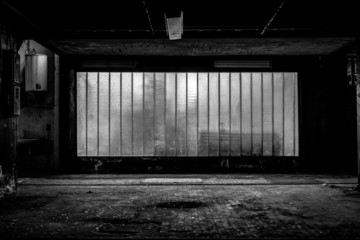 Fototapete - Large old window of a factory