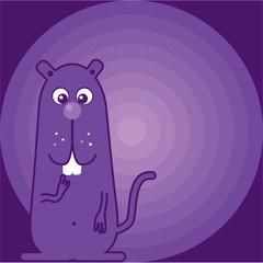 Purple beaver cat