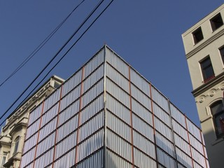 Baustelle in der Istiklal Caddesi in Istanbul Beyoglu