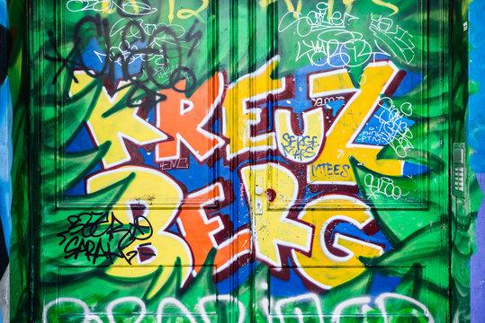 Kreuzberg graffiti in Berlin, Germany