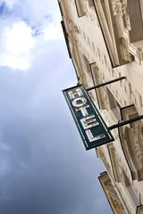 Hôtel, tourisme, façade, hôtellerie, vacances, enseigne