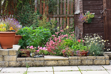 Garden stone landscaping