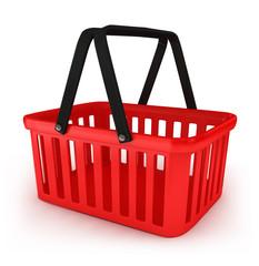 3D Illustration of Empty Shopping Basket Render