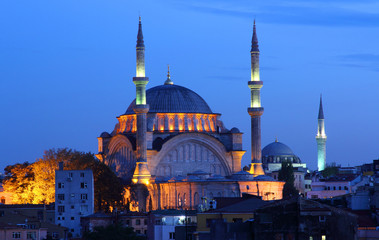 Majestic Mosque  in the vibrant city of Istanbu