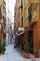 イタリア、ジェノヴァの旧市街