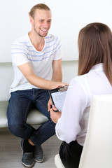 Handshake during counseling