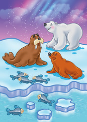 Arctic Ocean wild animals