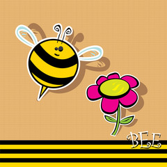 vector bee icon. vector illustration.