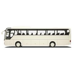 White tourist bus isolated