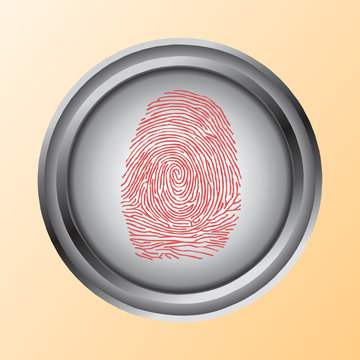 Shoppinh by Touch, ID, Fingerprint scan Access Symbol