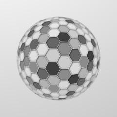 Honeycomb Structure Sphere #Vector