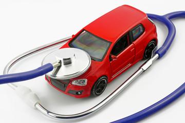 auto mit stethoskop