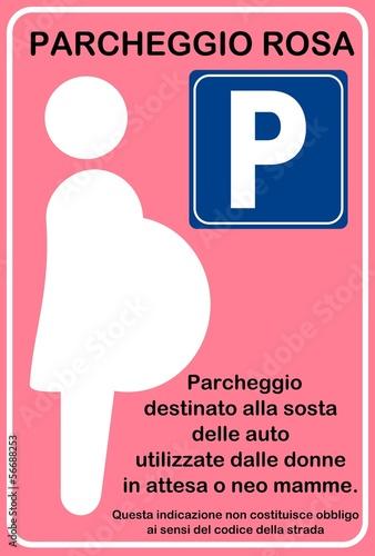 Parcheggio rosa pink parking immagini e vettoriali for Disegni di posto auto coperto in piedi