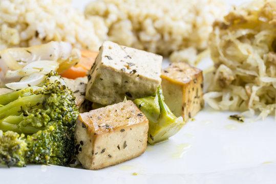 Healthy macrobiotic meal
