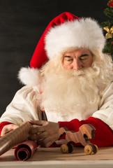 Santa Claus working