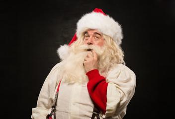 Santa Claus pensive