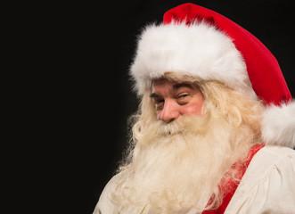 Santa Claus vintage style portrait smiling