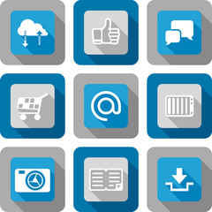 Smart phone application icon set design