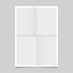 Poster template folded vector design