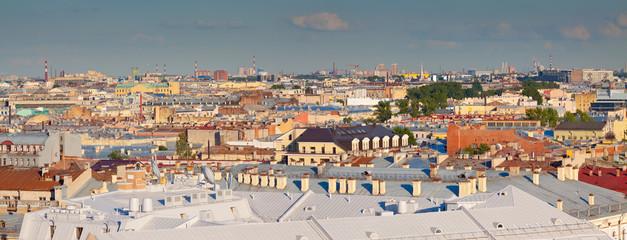Top view of Saint Petersburg