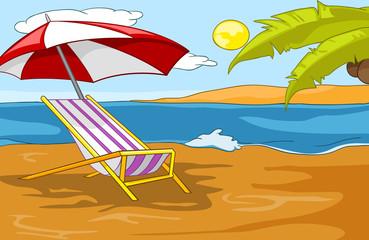 Beach Cartoon