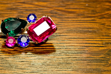 Fototapeta piękna biżuteria na tle obraz