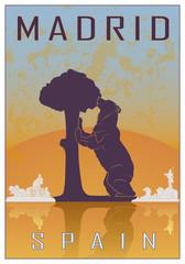 Madrid vintage poster