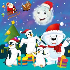 Funny christmas illustration
