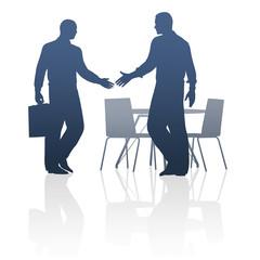 Geschäftsleute, Händeschütteln, Business  / Silhouette