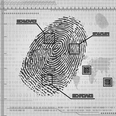 Finger print background