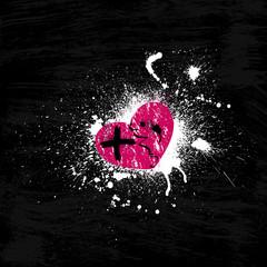 Grunge pink heart