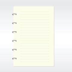 Blank notebook vector. EPS10