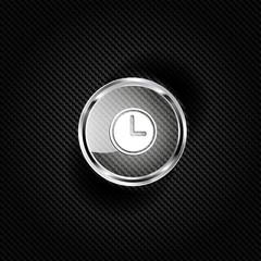 Clock web icon button