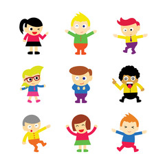 children vector cartoon