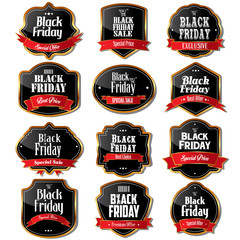 Black Friday sale labels