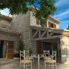 Detail of a magnificent villa