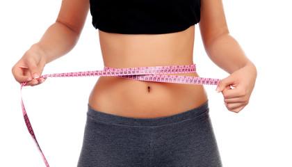 Slim woman tape measure