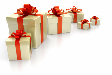 gift boxes red