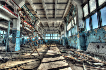 Acrylic Prints Old abandoned buildings Old factory