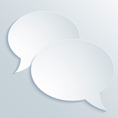 Abstract Paper Speech Bubble Background
