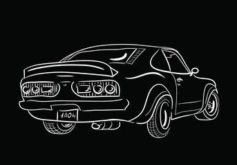 sketch car back