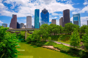 Wall Mural - Houston Texas Skyline with modern skyscapers