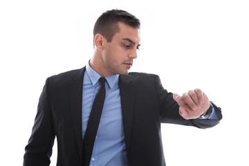 Manager isoliert gestresst unter Zeitdruck oder Termindruck